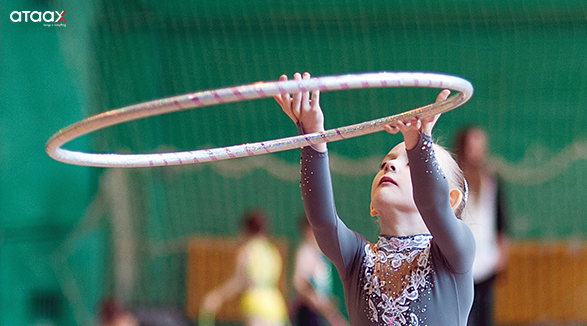 Gymnastics sport - a girl with a ring